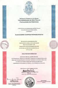 Doutorado pela mais conceituada Universidade do país