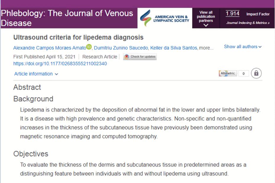 Protocolo diagnóstico de lipedema